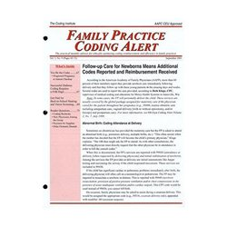 Family Practice Coding Alert